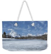 Grand Tetons And Snake River From Oxbow Bend Weekender Tote Bag