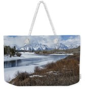 Grand Tetons From Oxbow Bend Weekender Tote Bag
