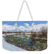 Grand Tetons From Willow Flats In Early April Weekender Tote Bag