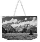 Grand Tetons In Black And White Weekender Tote Bag