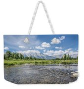 Grand Tetons On A Sunny Day Weekender Tote Bag by Margaret Pitcher