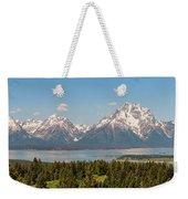 Grand Tetons Over Jackson Lake Panorama Weekender Tote Bag by Brian Harig