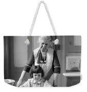 Grandmother And Granddaughter Baking Weekender Tote Bag
