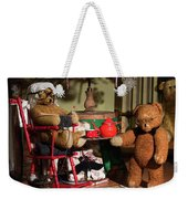 Grandpa And Grandma Teddy Bears' Christmas Eve Weekender Tote Bag