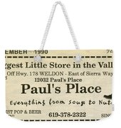 Grandparents Old Country Store Ad Weekender Tote Bag