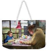 Grandpa's Workbench Weekender Tote Bag by Sam Sidders