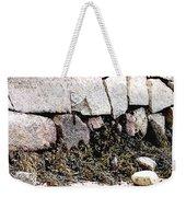 Granite And Seaweed Weekender Tote Bag