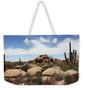 Granite Boulders And Saguaros  Weekender Tote Bag