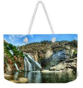 Granite Mountain Waterfall Panorama Weekender Tote Bag
