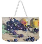 Grape And Peach Weekender Tote Bag