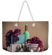 Grapes With Wine Stoppers Weekender Tote Bag