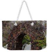 Grapevine Covered Stone Garden Door Weekender Tote Bag