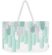 Graphic Art Feathers Wild And Free Spirit - Mint Weekender Tote Bag