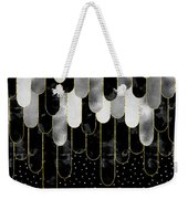 Graphic Art Feathers Wild And Free Spirit - Sparkling Metals Weekender Tote Bag