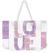Graphic Art Gold Love - Rose And Violet Weekender Tote Bag