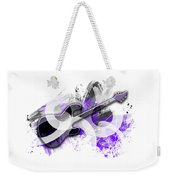 Graphic Art Guitar - Purple Weekender Tote Bag