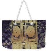 Graphic Art London Big Ben - Ultraviolet And Golden Weekender Tote Bag