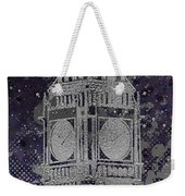 Graphic Art London Big Ben - Ultraviolet And Silver Weekender Tote Bag