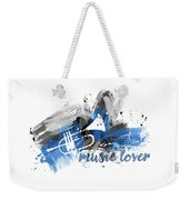 Graphic Art Music Lover - Blue Weekender Tote Bag