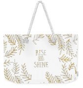 Graphic Art Rise And Shine - Gold And Marble Weekender Tote Bag