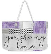 Graphic Art Silver You Are My Home - Violet Weekender Tote Bag