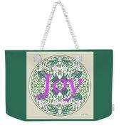 Graphic Designs Button Joy Weekender Tote Bag