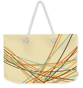 Graphic Line Pattern Weekender Tote Bag by Setsiri Silapasuwanchai