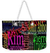 Graphic Prime Ministers Weekender Tote Bag