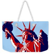 Graphic Statue Of Liberty Red White Blue Weekender Tote Bag