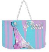 Graphic Style Paris Eiffel Tower Pink Weekender Tote Bag by Melanie Viola