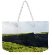 Grass Fields Surrounding The Cliff's Of Moher Weekender Tote Bag