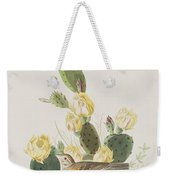 Grass Finch Or Bay Winged Bunting Weekender Tote Bag