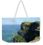 Grass Growing Along The Cliff's Of Moher In Ireland Weekender Tote Bag