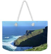 Grass Growing Along The Sea Cliffs In Ireland Weekender Tote Bag