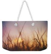 Grass In A Windy Field Weekender Tote Bag