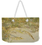 Grass On The Beach Sand Weekender Tote Bag