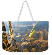 Grass Spears In Still Water Weekender Tote Bag