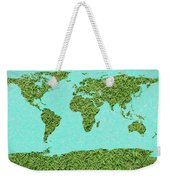 Grass World Map Weekender Tote Bag