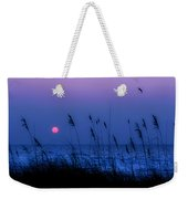 Grasses Frame The Setting Sun In Florida Weekender Tote Bag