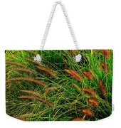 Grasses In The Verticle Weekender Tote Bag