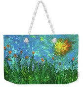 Grassland With Orange Flowers Weekender Tote Bag