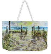 Grassy Beach Post Morning 2 Weekender Tote Bag