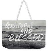 Grateful And Blessed- Art By Linda Woods Weekender Tote Bag by Linda Woods