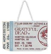Grateful Dead Ticket - Hampton Coliseum Weekender Tote Bag