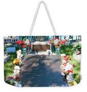 Grave Site At Graceland The Home Of Elvis Presley, Memphis, Tennessee Weekender Tote Bag