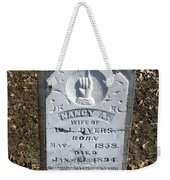 Gravestone Weekender Tote Bag