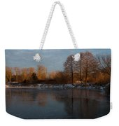 Gray And Amber - An Early Winter Morning On The Lake Shore Weekender Tote Bag