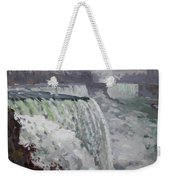 Gray And Cold At American Falls Weekender Tote Bag