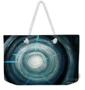 Gray-blue Star. Sparkling Light Weekender Tote Bag