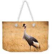 Gray Crowned Crane Weekender Tote Bag
